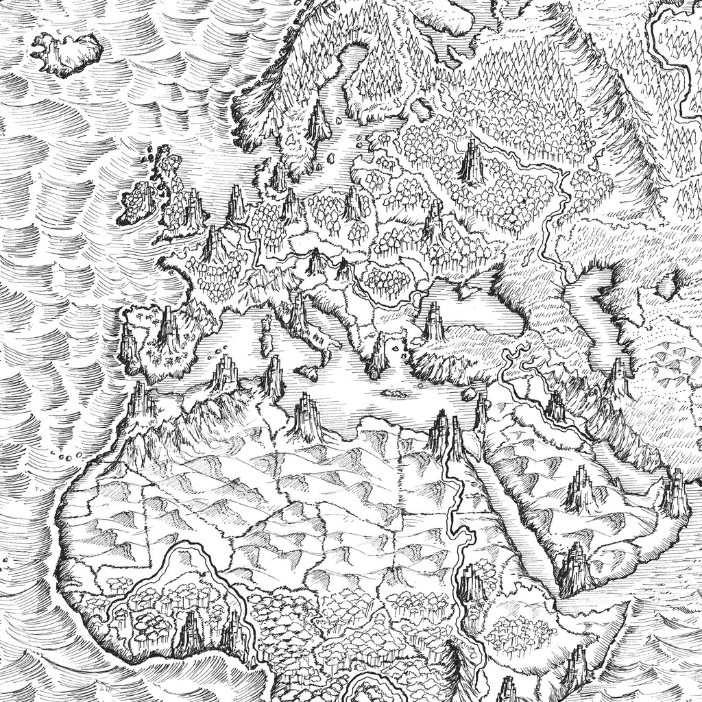 Illustrated Maps: Original Drawings