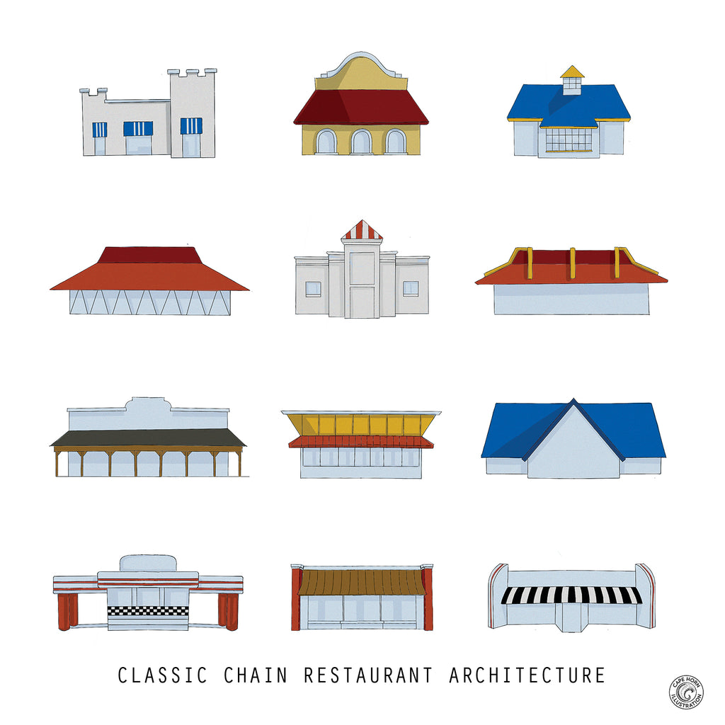 Classic Chain Restaurant Architecture: The Print