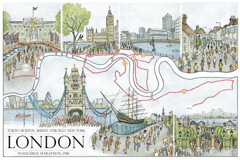 "London: The Marathon Map (12"" x 18"")"