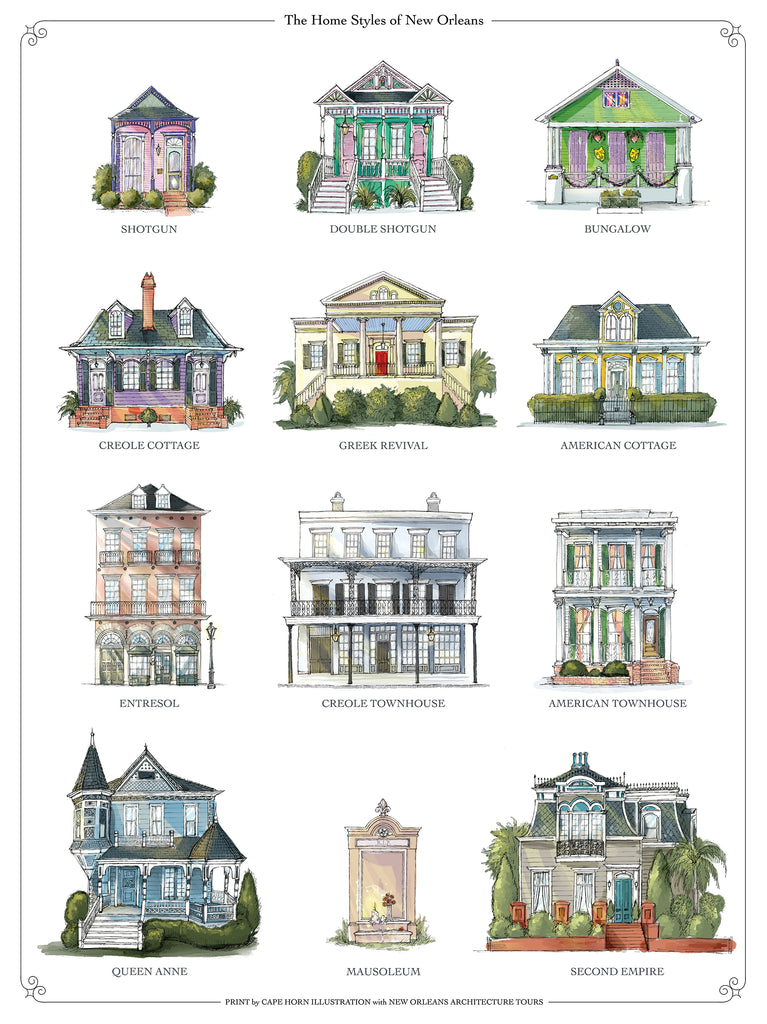 The Home Styles of New Orleans (from NOLA Tours!)