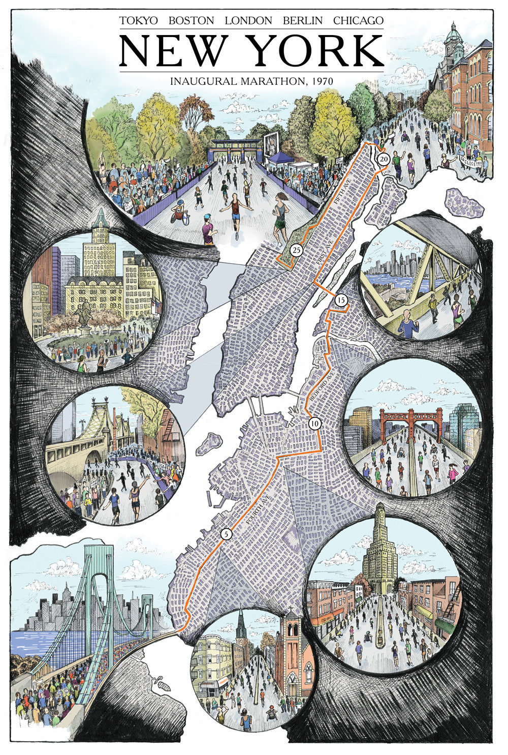 New York Illustration Map