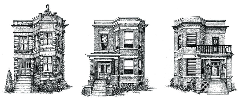 "Siblings: Chicago Two-Flats (As seen in the movie ""The Big Sick"")"