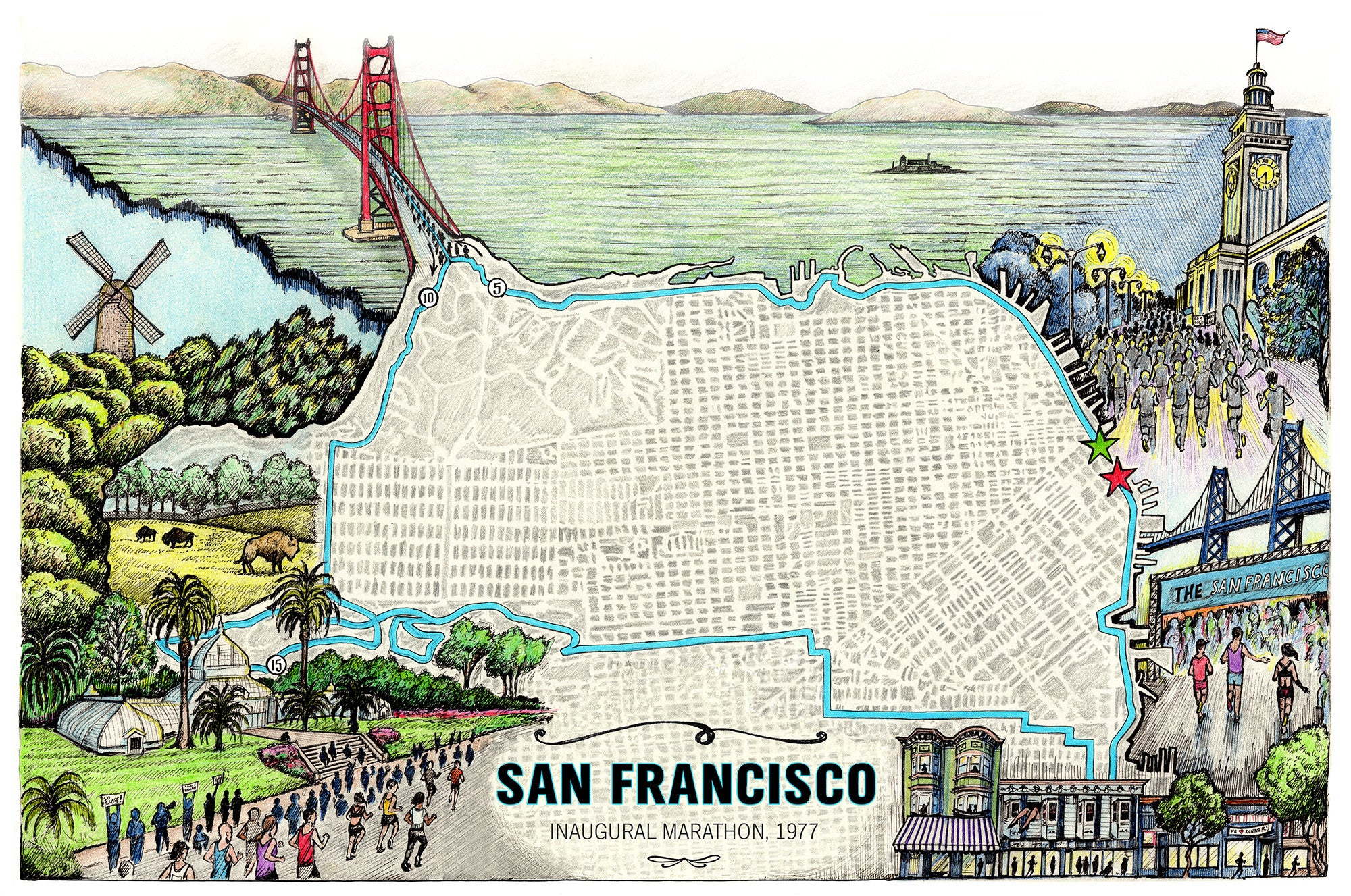 San Francisco Road Map Pdf%0A San Francisco The Marathon Map       X       Building Drawings San Fran Final  Web     px San Francisco The Marathon Map    X     Map San Francisco