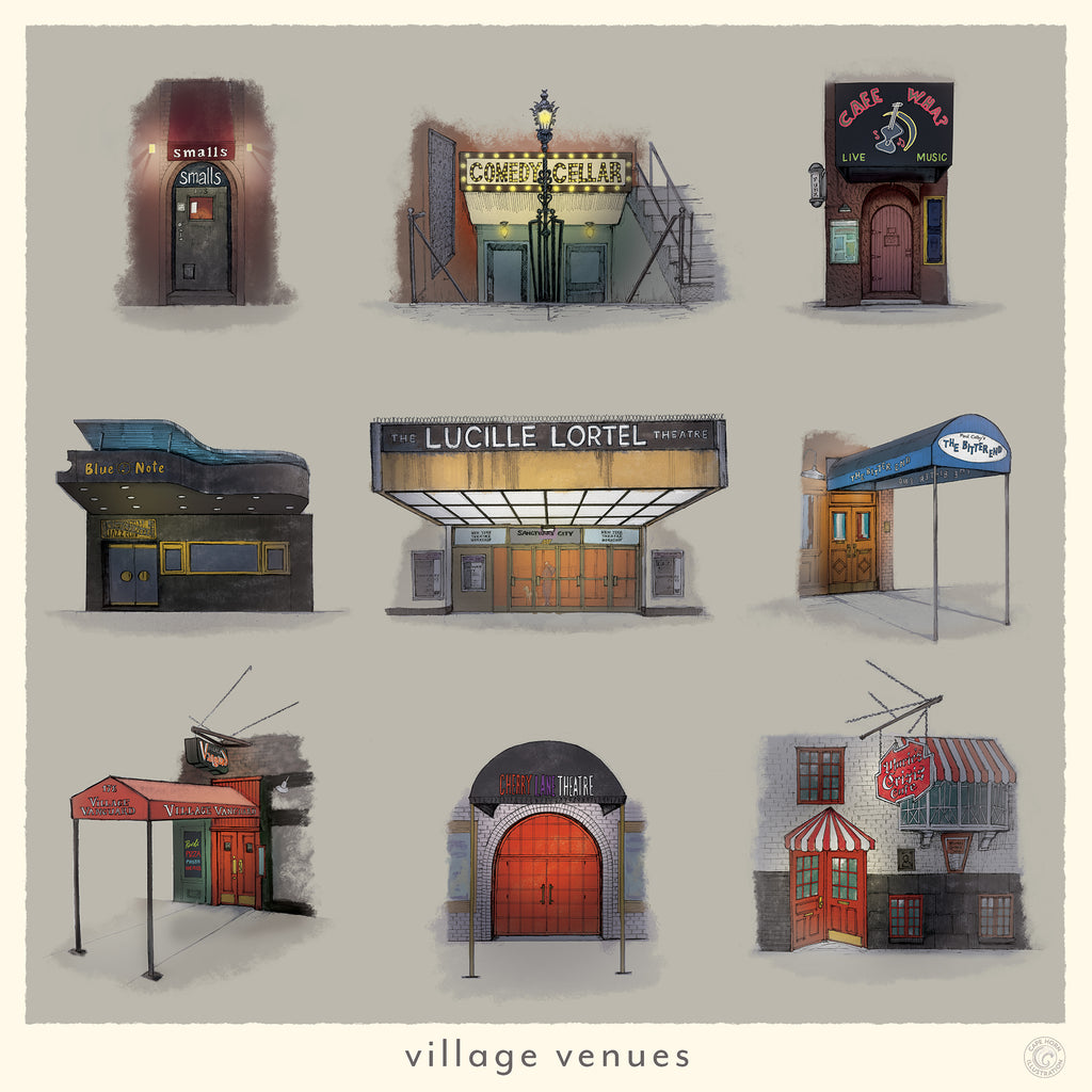greenwich village bars and clubs artwork
