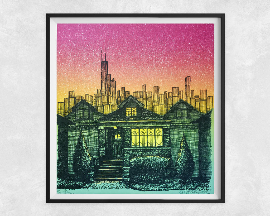 Bungalow Dusk | Limited edition letterpress print