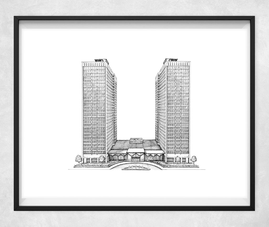 "3550 N. Lake Shore Drive drawing (11"" x 14"")"