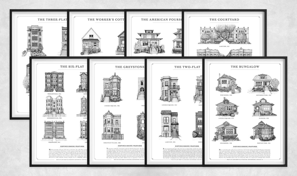 "Set: EIGHT Home Styles prints (11""x14"" 