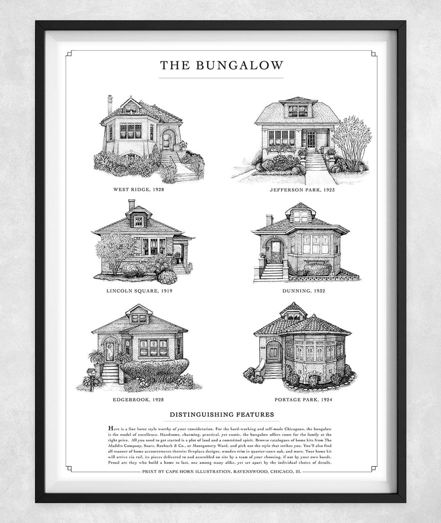 "The Bungalow (11""x14"" 