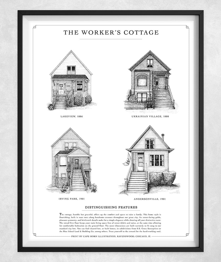 "The Worker's Cottage (11""x14""