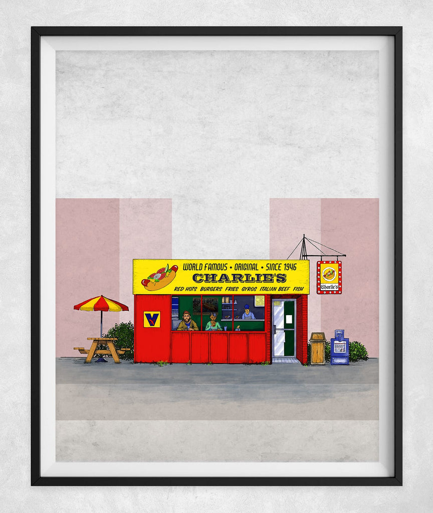 Tribute to the Iconic Chicago Hot Dog Stand