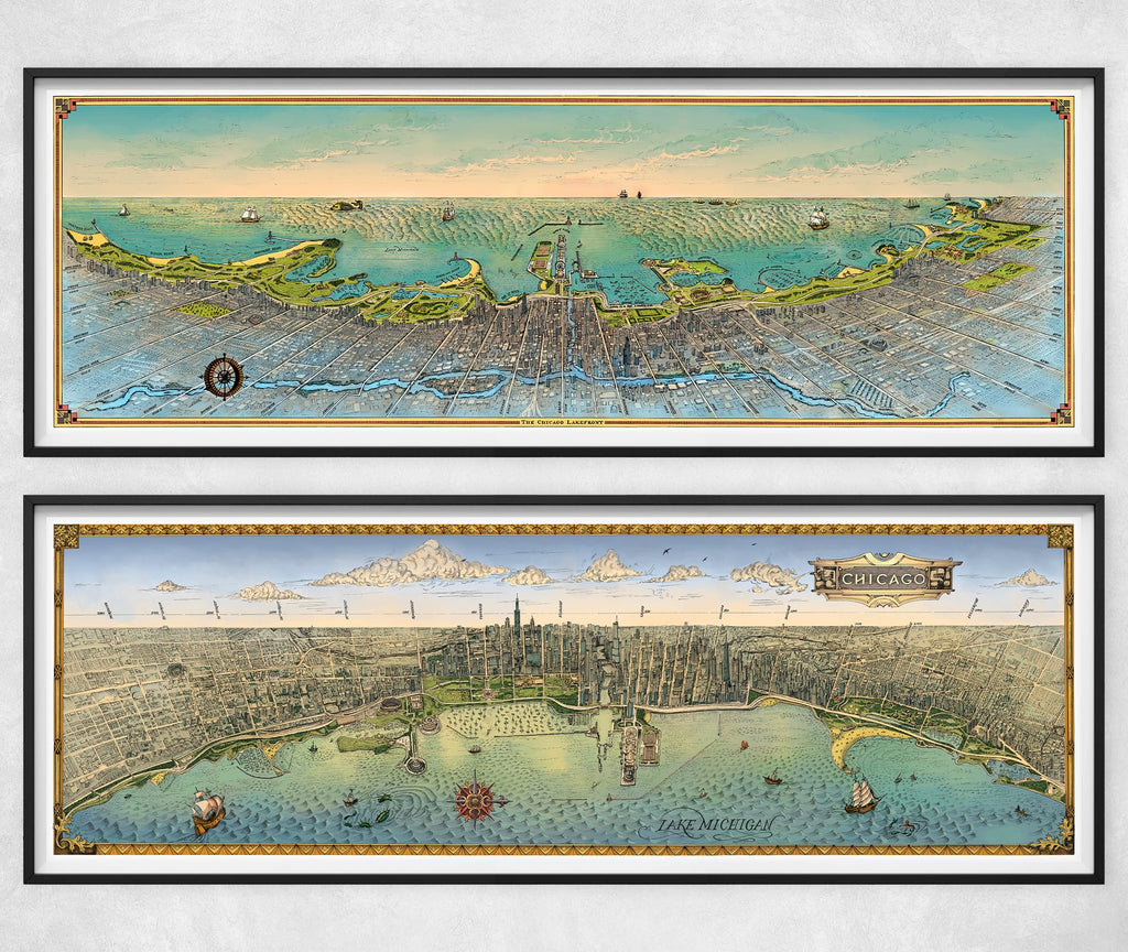 "Lakefront Currents East & West (12"" x 36"")"