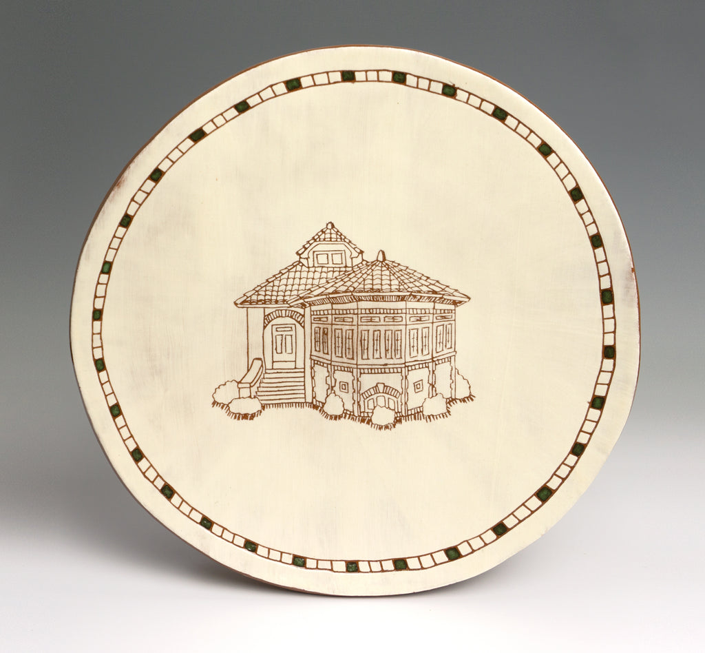 Carved Bungalow Plate