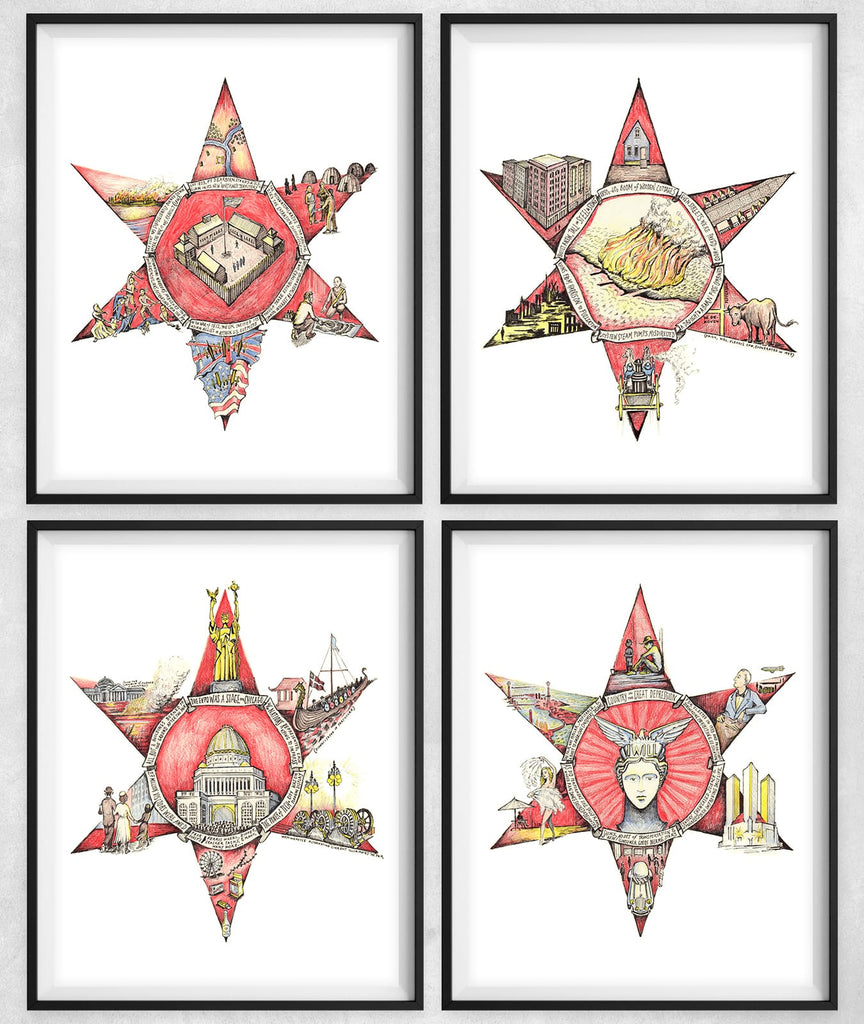The Four Chicago Stars, Illustrated
