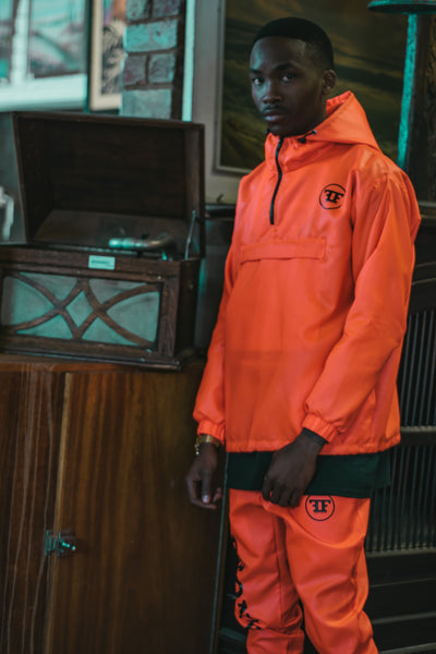 Orange Hooded Jacket