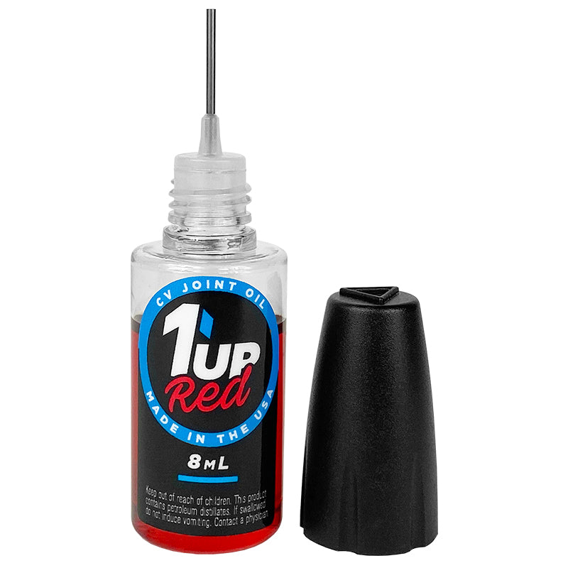 1up Racing Red CV Joint Oil – 8ml Oiler Bottle