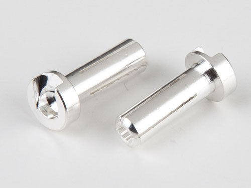 14mm 4mm Bullet Male Connectors Silver