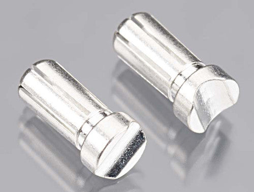TQ Wire 5mm Gold Clad/Silver Plated 13mm Long Bullet 6 Point (2pcs)