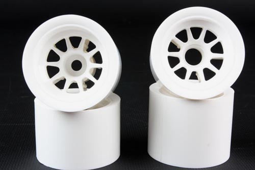 F104 Wheel Set - White for Foam / Shimizu Rubber tires.