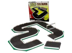 InfiniTrax 720 Burn Micro RC Car Racetrack 1/64 Scale