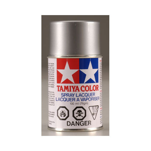 Tamiya PS-12 Polycarbonate Spray Paint  Silver 3oz