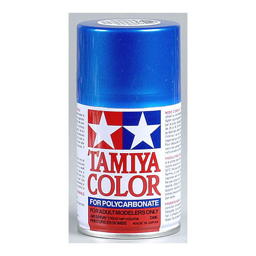 Tamiya PS-16 Polycarbonate Spray Paint Metalic Blue 3 oz