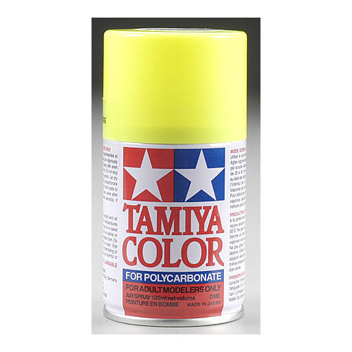 Tamiya PS-27 Polycarb Spray Fluorescent Yellow Paint 3 oz