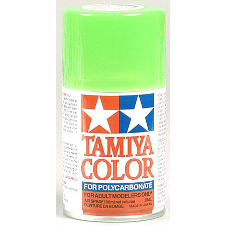 Tamiya PS-28 Polycarb Spray Fluorescent Green Paint 3 oz