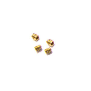 Brass 4-40 Set screws, 2 pair.