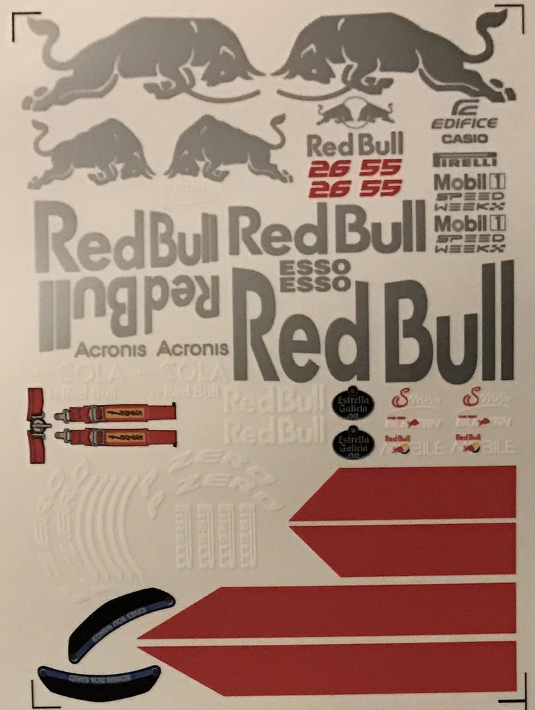 F1PAINTLAB F1 DECAL SHEET (Red Bull2017)