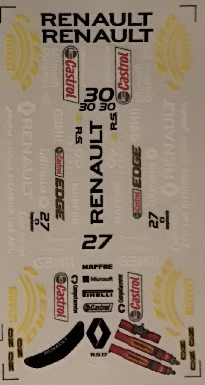 F1PAINTLAB F1 DECAL SHEET (Renault 2017)