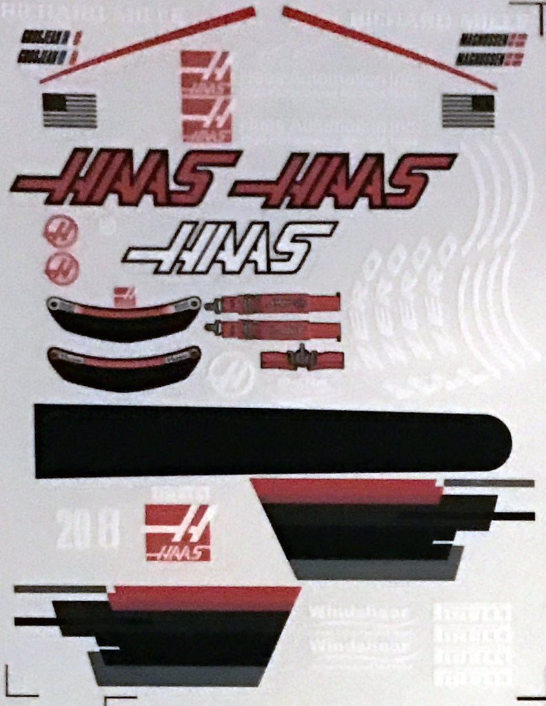 F1PAINTLAB F1 DECAL SHEET (Haas2017)