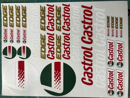 F1PAINTLAB F1 DECAL SHEET Castrol