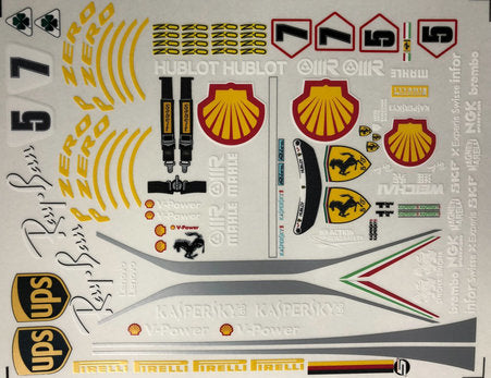 Copy of F1PAINTLAB F1 DECAL SHEET 2018 Ferrari