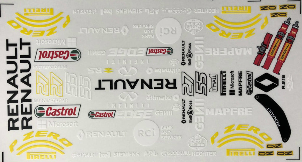 F1PAINTLAB F1 DECAL SHEET 2018 Renault