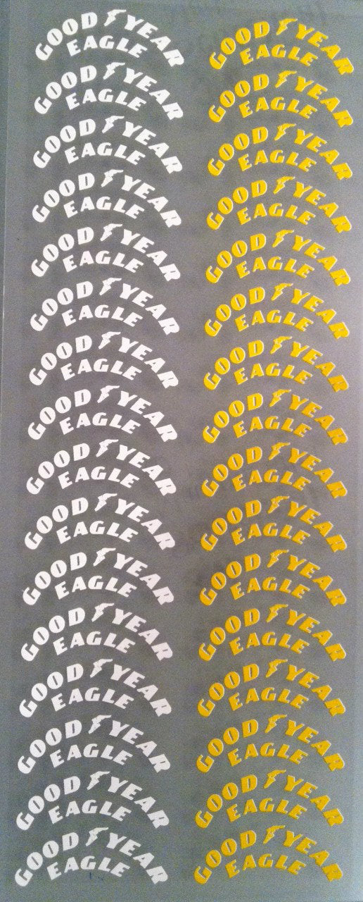 F1PAINTLAB F1 DECAL SHEET (TYRE DECALS GOODYEAR)