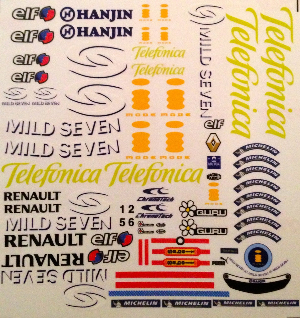 F1PAINTLAB F1 DECAL SHEET (Ren2005)