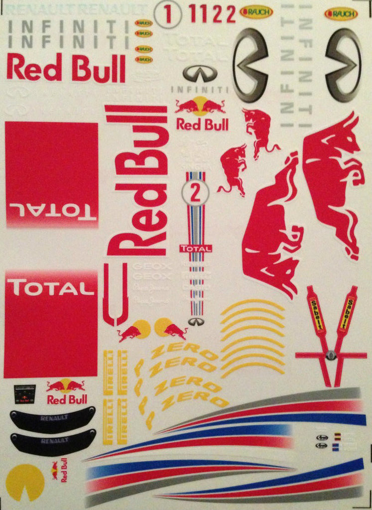 F1PAINTLAB F1 DECAL SHEET (RB9)