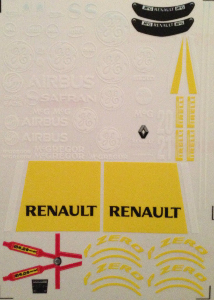 F1PAINTLAB F1 DECAL SHEET (Ren2013)