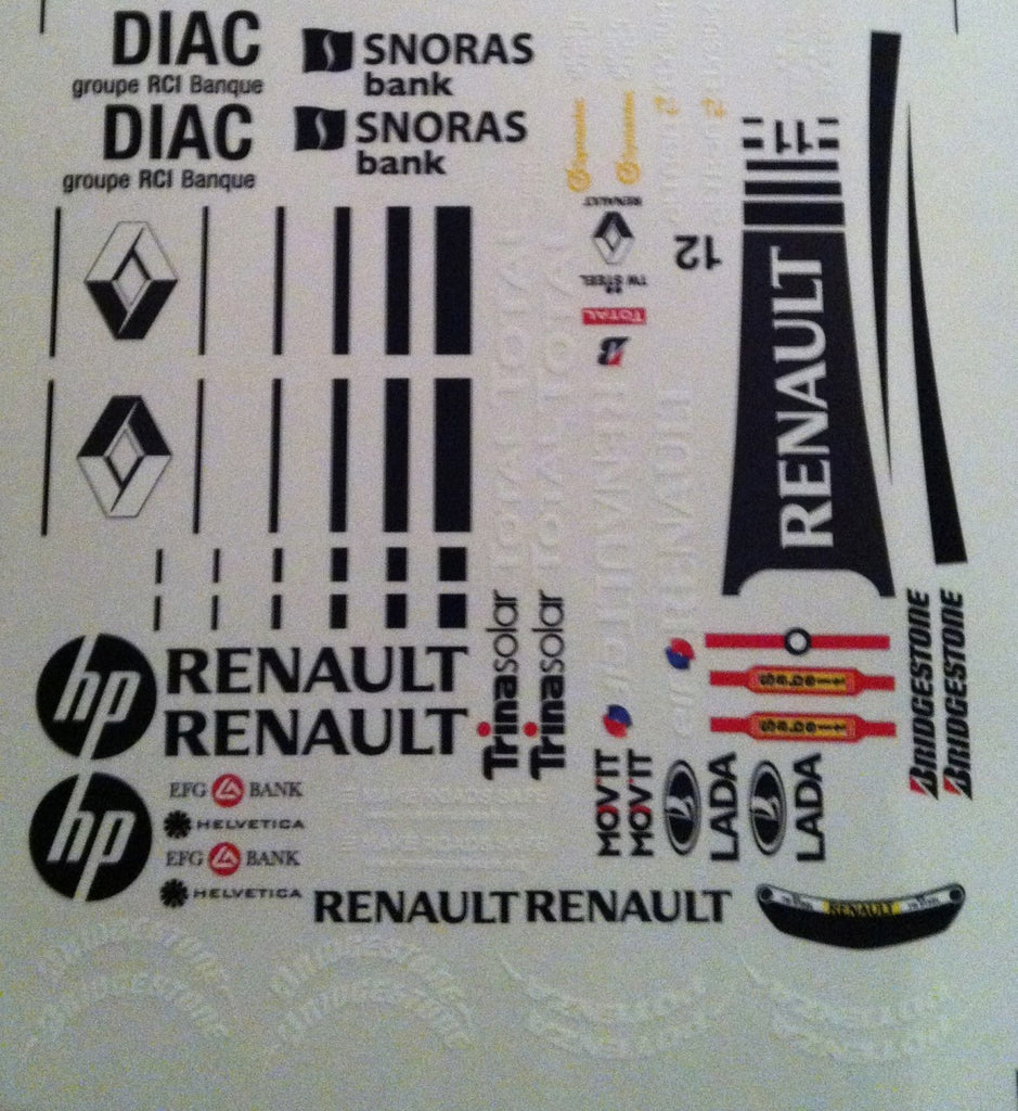 F1PAINTLAB F1 DECAL SHEET (RENAULT R30)