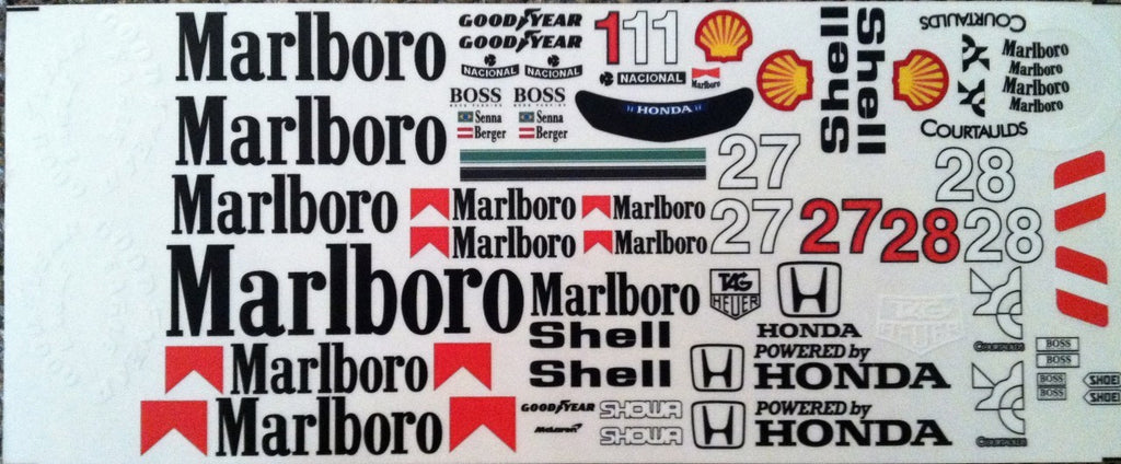 F1PAINTLAB F1 DECAL SHEET (MP4/5B-MP4/6)