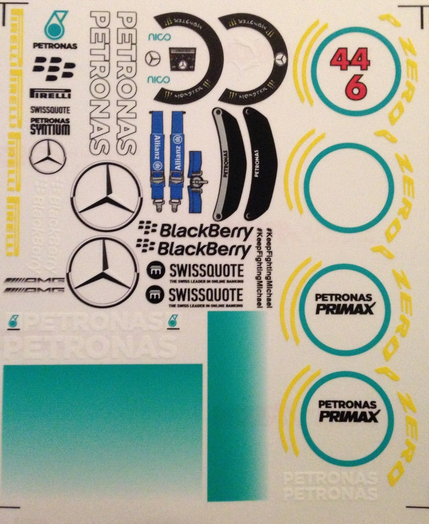 F1PAINTLAB F1 DECAL SHEET (Mer 2014)