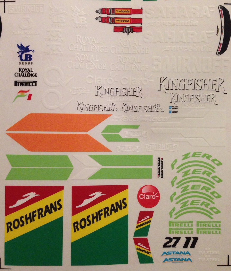 F1PAINTLAB F1 DECAL SHEET 2014 Force India