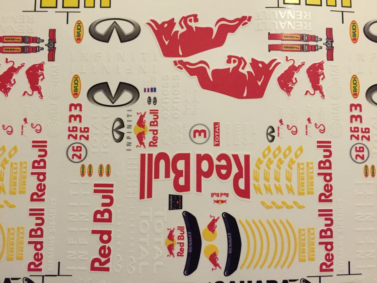 F1PAINTLAB F1 DECAL SHEET (2015RB) - GRIPWORKS RC