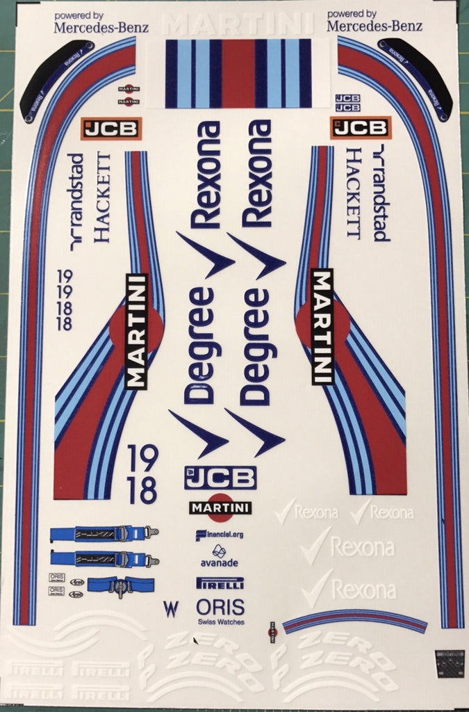 F1PAINTLAB F1 DECAL SHEET (Williams FW39)