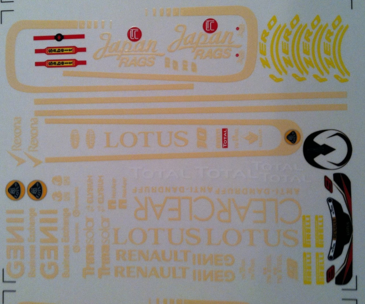 F1PAINTLAB F1 DECAL SHEET (E20) - GRIPWORKS RC
