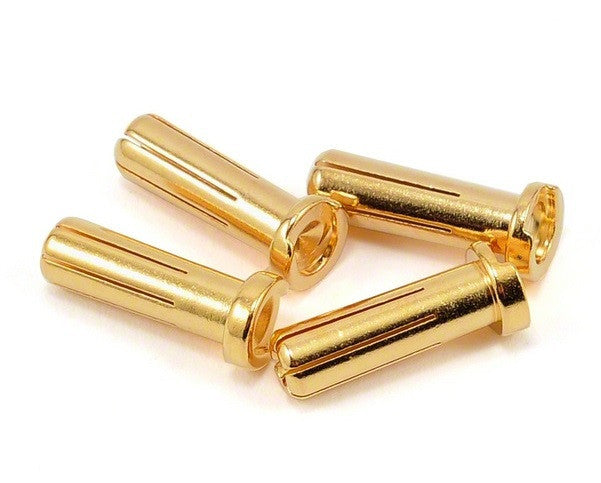 PROTEK R/C 5.0MM 'SUPER BULLET' SOLID GOLD CONNECTORS (4 MALE)