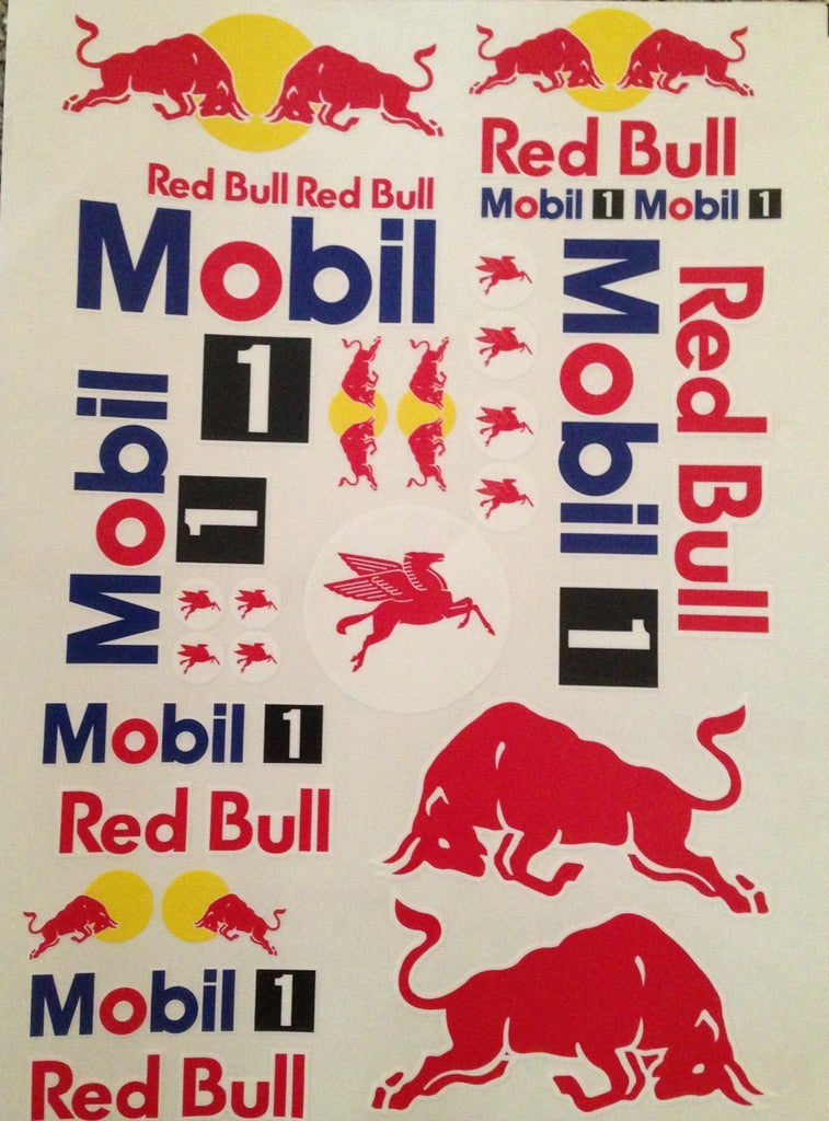 Touring Car Decals, Red Bull