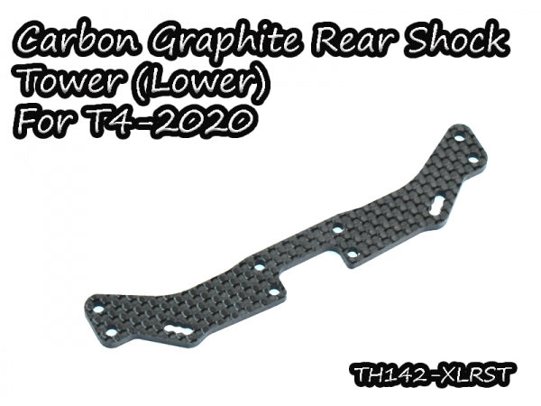 Vigor Carbon Graphite Lower Rear Shock Tower for Xray T4-2020