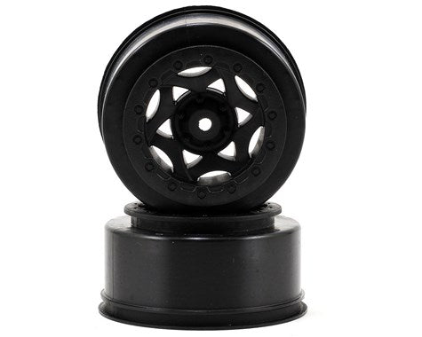 AKA 12mm Hex Cyclone Short Course Wheels (Black) (2) (SC5M)