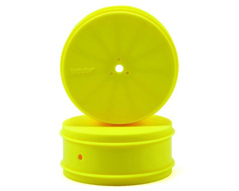 "AKA 12mm Hex ""EVO"" 4WD Front Wheels (2) (22-4/D413) (Yellow)"